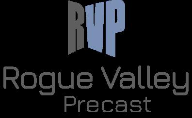 Rogue Valley Precast Logo vertical logo