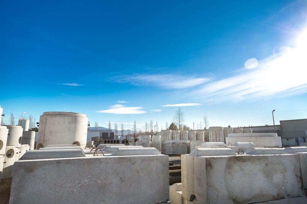 Precast Concrete inventory yard