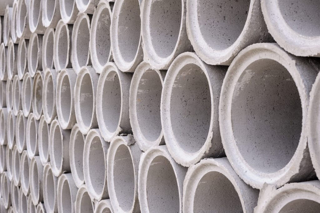 Pipe of cement for building trade to illustrate Precast Concrete Sewer Pipe